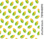 seamless pattern with corn in...   Shutterstock .eps vector #789848890