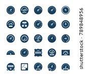 meter vector icons in flat... | Shutterstock .eps vector #789848956