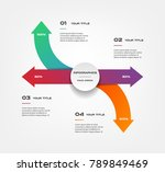 arrows infographics step by... | Shutterstock .eps vector #789849469