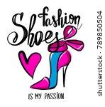 t shirt design for girls.... | Shutterstock .eps vector #789850504