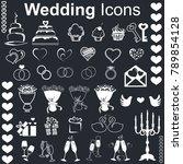 wedding icons white | Shutterstock .eps vector #789854128