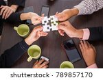 team work business concept with ...   Shutterstock . vector #789857170