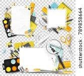 collection of school scrapbook...   Shutterstock .eps vector #789858664