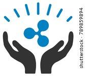 ripple prosperity hands flat... | Shutterstock .eps vector #789859894