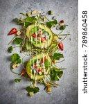 healthy breakfast with fruit... | Shutterstock . vector #789860458