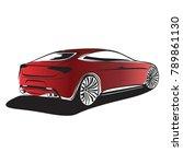 sport car  red car  vector | Shutterstock .eps vector #789861130