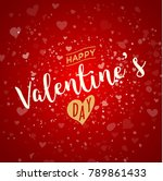 valentines day greeting card.... | Shutterstock .eps vector #789861433