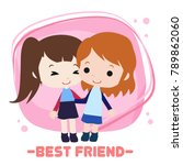 happy friendship illustration | Shutterstock .eps vector #789862060