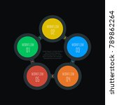 5 step infographic  five... | Shutterstock .eps vector #789862264