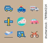 icon set about transport with... | Shutterstock .eps vector #789864214