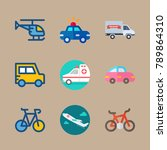 icon set about transport with... | Shutterstock .eps vector #789864310