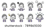 senior women  set  variation | Shutterstock .eps vector #789865030