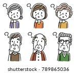 senior male and senior woman ... | Shutterstock .eps vector #789865036