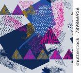 bright textured background.... | Shutterstock .eps vector #789866926