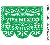 viva mexico papel picado vector ...   Shutterstock .eps vector #789867886