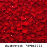Stock photo background of beautiful red rose petals top view 789869338