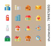 icon set about travel with... | Shutterstock .eps vector #789870850