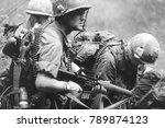 Re enactors of the vietnam war...