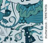 seamless mehndi vector pattern. ... | Shutterstock .eps vector #789874456