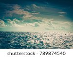 beautiful seascape evening sea... | Shutterstock . vector #789874540