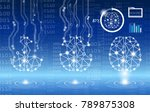 abstract background technology... | Shutterstock .eps vector #789875308