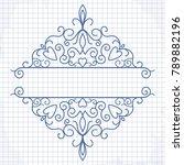 calligraphic frame. vector... | Shutterstock .eps vector #789882196