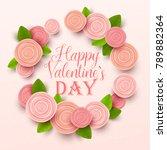 valentine s day background.... | Shutterstock .eps vector #789882364