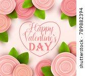 valentine s day background.... | Shutterstock .eps vector #789882394