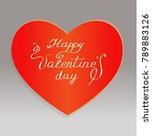 vector of valentines day card... | Shutterstock .eps vector #789883126