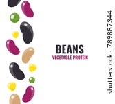set of beans elements   Shutterstock .eps vector #789887344