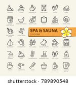 spa and sauna  steam bath  ... | Shutterstock .eps vector #789890548