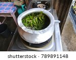 asian traditional herbal leaf... | Shutterstock . vector #789891148
