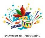 happy carnival festive concept... | Shutterstock .eps vector #789892843