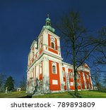 the pilgrimage church on the... | Shutterstock . vector #789893809