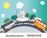 wedding traffic jam | Shutterstock .eps vector #78989599