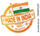 rubber stamp made in india | Shutterstock .eps vector #789899209