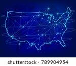 global logistics network... | Shutterstock .eps vector #789904954