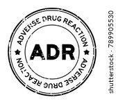 grunge black adr  abbreviation... | Shutterstock .eps vector #789905530