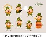 leprechaun  vector illustration ... | Shutterstock .eps vector #789905674