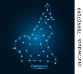 abstract map of cameroon with... | Shutterstock .eps vector #789907099