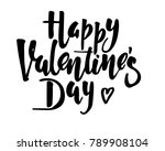 happy valentines day vintage... | Shutterstock .eps vector #789908104