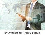 businessman in worldwide remote ...   Shutterstock . vector #789914836