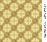 gold metallic regular seamless...   Shutterstock . vector #789919654