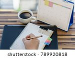 stressed planner writing on... | Shutterstock . vector #789920818