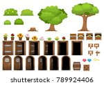 collection of various objects... | Shutterstock .eps vector #789924406