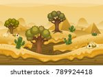 endless loop parallax game... | Shutterstock .eps vector #789924418