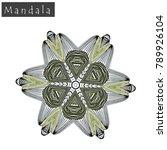 geometrical flower mandala sign....   Shutterstock .eps vector #789926104