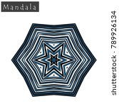 geometrical flower mandala sign....   Shutterstock .eps vector #789926134