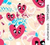 vector seamless abstract... | Shutterstock .eps vector #789926896
