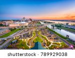 memphis  tennessee  usa aerial... | Shutterstock . vector #789929038